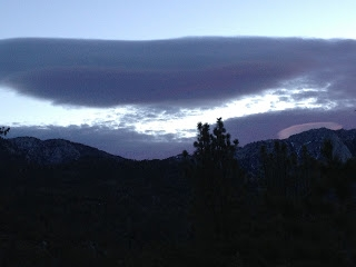 Dawn in Idyllwild on 3/3 ( Doesn't the sky look like the ocean?)